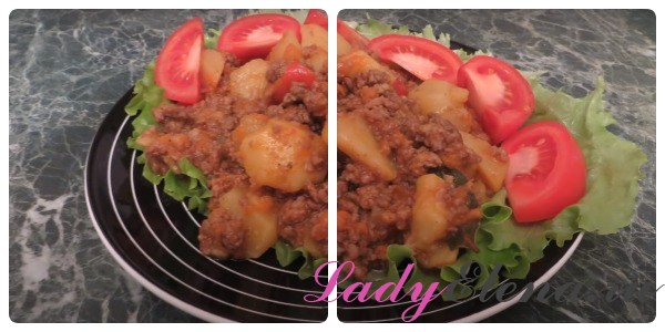 Картошка с фаршем фото-рецепт