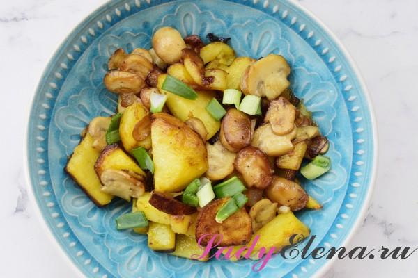 Картошка с грибами фото-рецепт