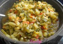 Кабачки с овощами фото-рецепт