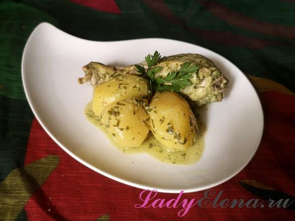 Картошка с курицей в рукаве фото-рецепт