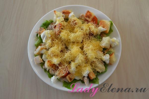 Салат из курицы с яйцами фото-рецепт