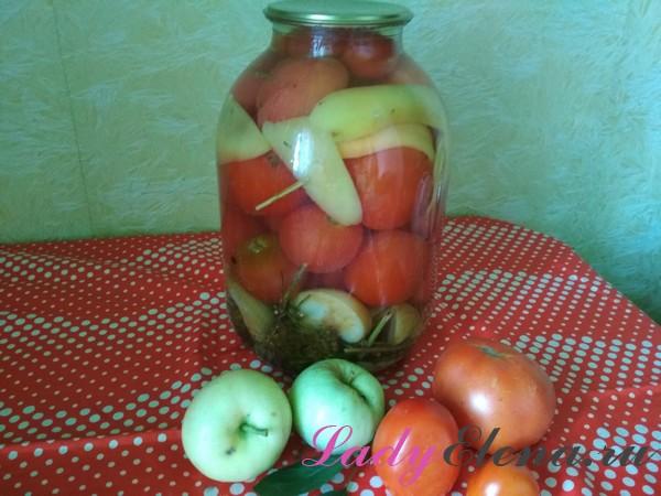 Помидоры с яблоками фото-рецепт
