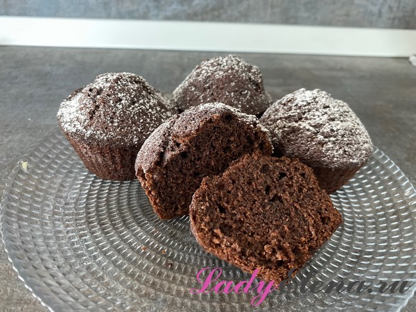Шоколадные кексы фото-рецепт