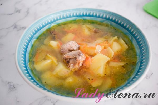 Суп с рыбными консервами фото-рецепт