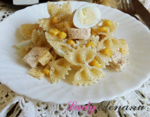 Салат с макаронами фото-рецепт