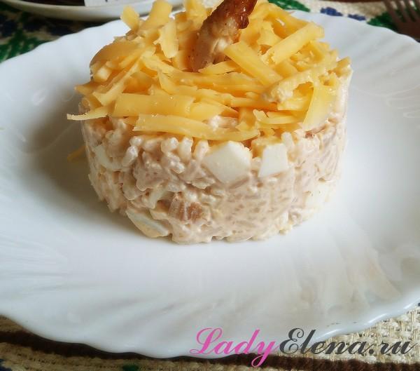 Салат с рисом фото-рецепт