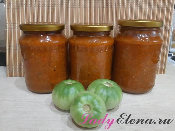 Икра из зеленых помидор рецепт с фото