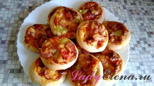 Мини пицца на дрожжах фото-рецепт