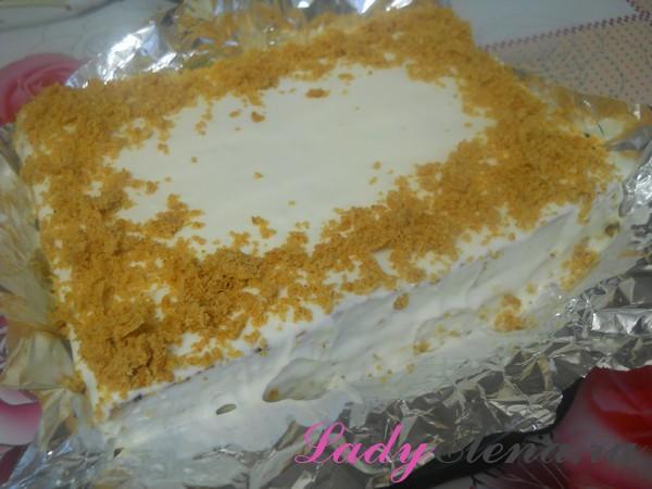 Морковный торт с творожным кремом фото-рецепт