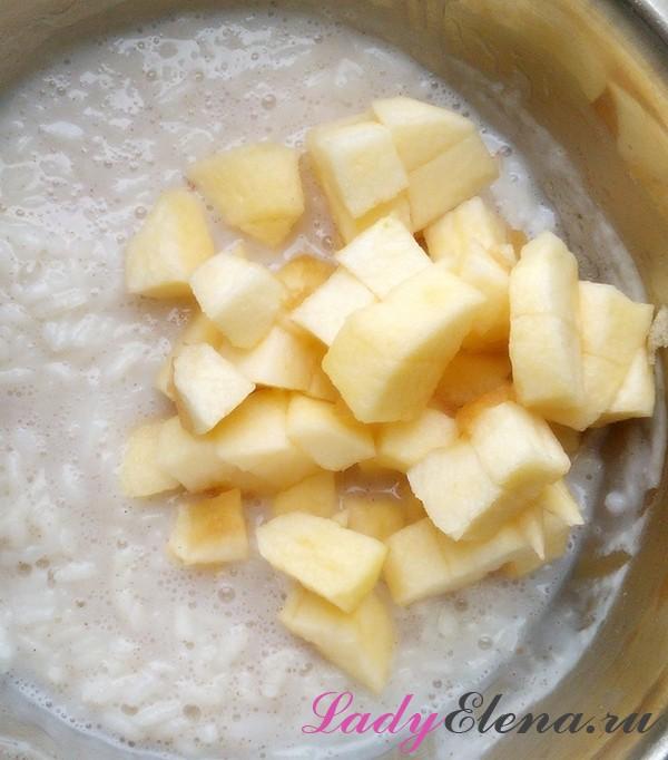 Рисовая каша с яблоками: на молоке, на воде. Она идеальная!