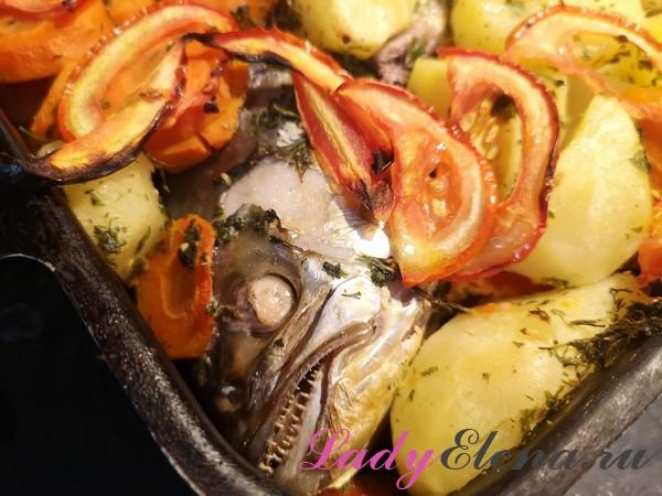 Рыба с овощами фото-рецепт