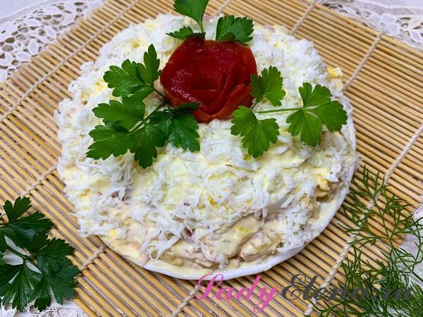 Салат с ананасами фото-рецепт