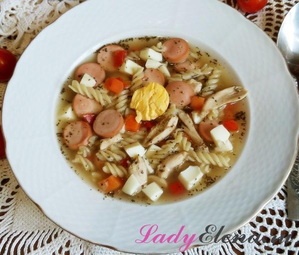 Суп с сосисками фото-рецепт