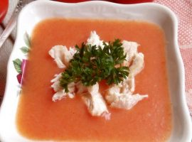 Томатный суп с курицей фото-рецепт