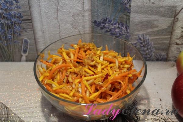Салат из тыквы фото-рецепт