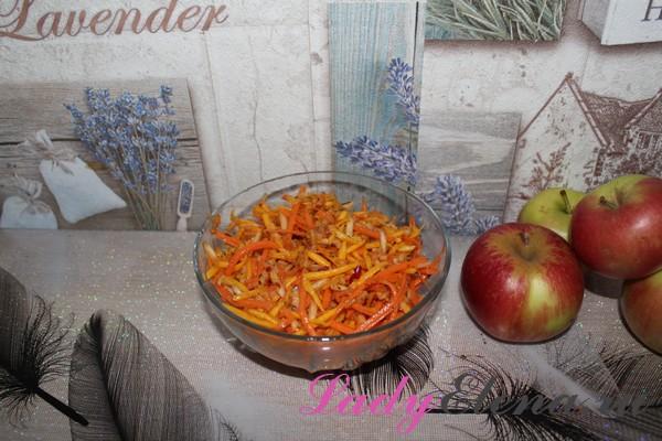 Салат из тыквы с яблоком и морковкой