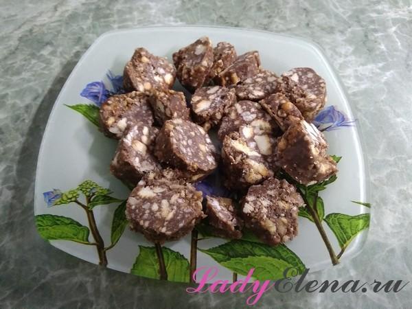 Шоколадная колбаска фото-рецепт