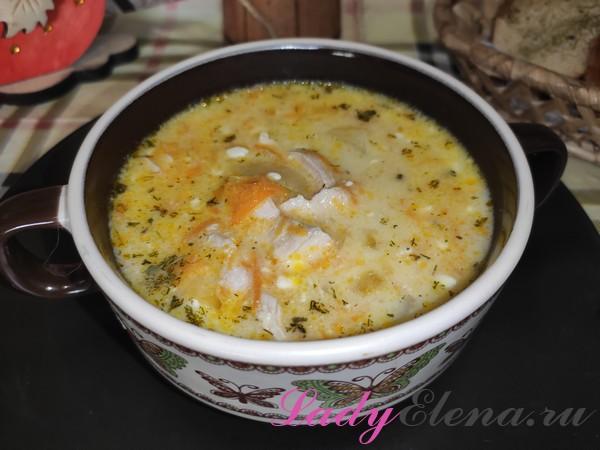 Суп с плавленым сыром фото-рецепт
