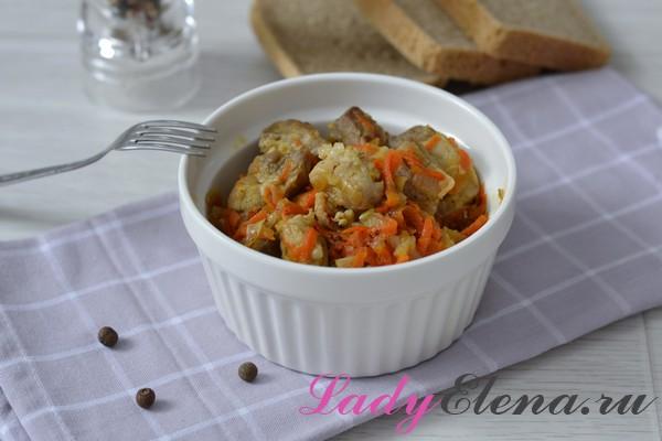 Свинина с луком и морковью фото-рецепт