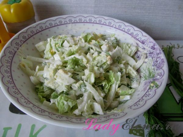 Салат из яиц и пекинской капусты фото-рецепт