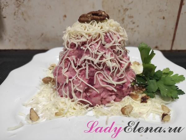 Салат из свеклы и сыра фото-рецепт