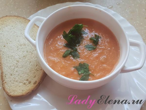 Постный суп-пюре из фасоли