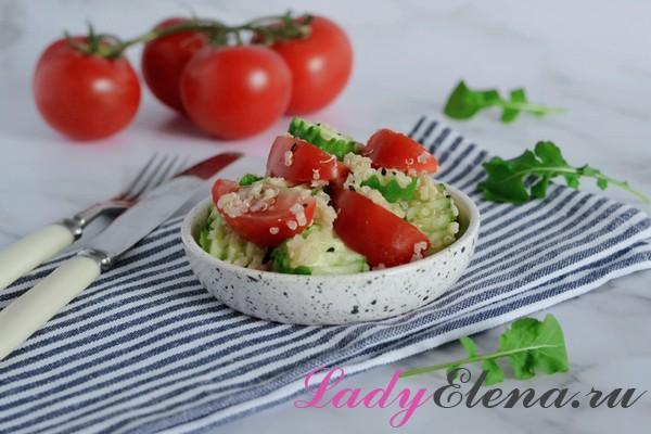 Салат с киноа фото-рецепт