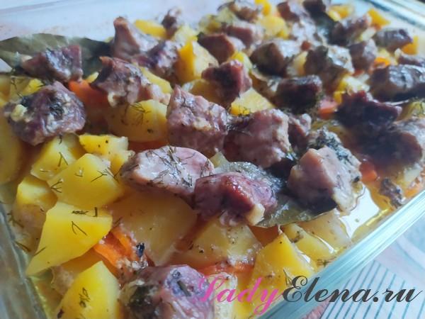 Свинина с картошкой в духовке фото-рецепт