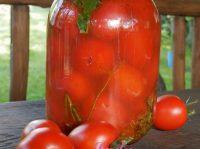 Бочковые помидоры в банке холодным способом — фото-рецепт