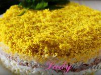 Фото-рецепт салата «Мимоза» с тунцом: праздничный вариант