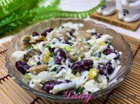 Салат с фасолью и грибами: ТОП 5 рецептов с пошаговым фото