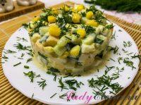 Салат с огурцом и кукурузой: 7 фото-рецептов