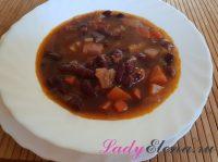 Суп из красной фасоли — рецепт с фото